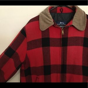 Woolrich vintage Red Flannel Hunting Coat. Sz XL